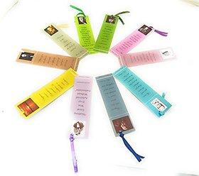 Wisdom Bookmarks - Eco friendly Paper Bookmarks set of 10