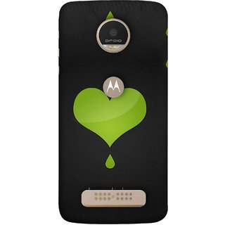 FUSON Designer Back Case Cover For Motorola Moto Z Play (I Am In Love You Very Much Hearts Kiss Together )