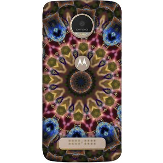 FUSON Designer Back Case Cover For Motorola Moto Z Play (Cotton Quilt Artwork Freestyle Design Floral Best Design )