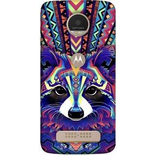 FUSON Designer Back Case Cover For Motorola Moto Z Play (Dog Cat Kitten Whisker Puppy Triangle Rectangle)