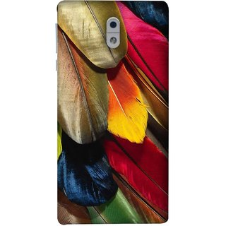 FUSON Designer Back Case Cover For Nokia 3 (Birds Feathers Parrot Peacock Long Blue Colour)