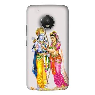 FUSON Designer Back Case Cover For Motorola Moto G5 Plus (Ramchandra Vivah King Maharaja Ayodhya Sita)