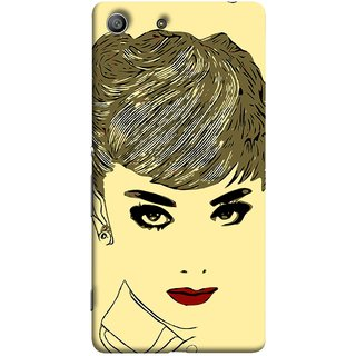FUSON Designer Back Case Cover For Sony Xperia Z3 Compact :: Sony Xperia Z3 Mini (Black Background Girl Heroin Female Modern Young)