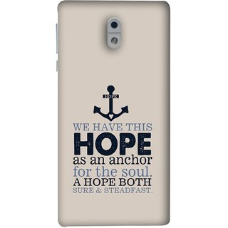 FUSON Designer Back Case Cover For Nokia 3 (A Hope Both Sure And Steadfast Deep Sea Anchor Ship)
