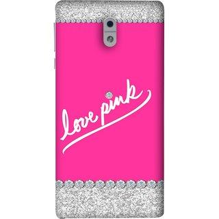 FUSON Designer Back Case Cover For Nokia 3 (Always Like Pink Colours Small Diamonds Girls)