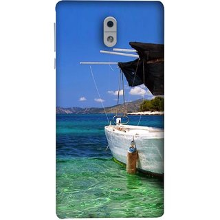 FUSON Designer Back Case Cover For Nokia 3 (Boat Floating In The Clear Water Island Enjoy Holidays)