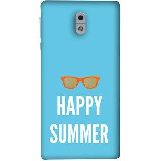 FUSON Designer Back Case Cover For Nokia 3 (Beautiful Beach Sun Girls Yellow  Sunshine)