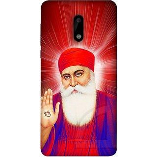 FUSON Designer Back Case Cover For Nokia 6 (Guruji Beautiful Frame God His Mission Blesses)