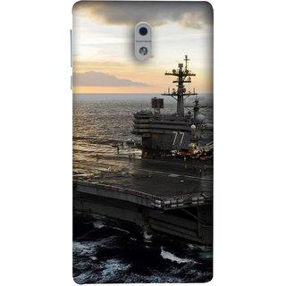 FUSON Designer Back Case Cover For Nokia 3 (Indian Submarine Shoots Ship With Missile Training )