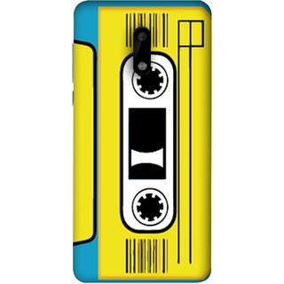 FUSON Designer Back Case Cover For Nokia 6 (Tape Cassette Black Film Screws Old Player)