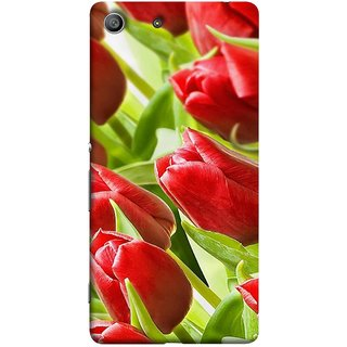FUSON Designer Back Case Cover For Sony Xperia Z3 Compact :: Sony Xperia Z3 Mini (Close Up Red Roses Chocolate Hearts For Valentines Day)