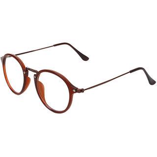 Zyaden Brown Round Eyewear Frame 328