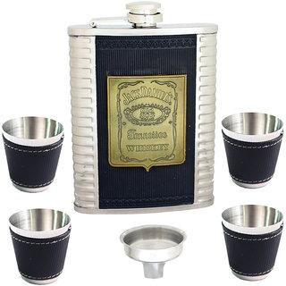 240ml 8oz Pocket Hip Flask Stainless Steel Bottle Liquor Drink Ware -80