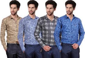 Ankur Enterprises  Printed Poly-Cotton Shirts pack of 4