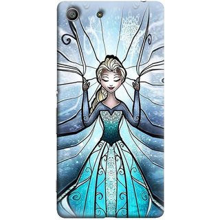 FUSON Designer Back Case Cover For Sony Xperia Z3 Compact :: Sony Xperia Z3 Mini (The Blue Rose Doll Baby Girl Nice Dress Long Hairs )