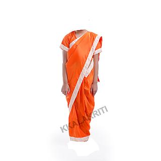 Meera Or Seeta Saree Orange Color For Girls