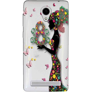Snooky Printed Green Lady Mobile Back Cover of Vivo Y28 - Multicolour
