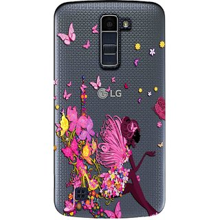 cheap for discount 762ef f9c13 Snooky Printed Butterfly Mobile Back Cover of LG K10 - Multicolour