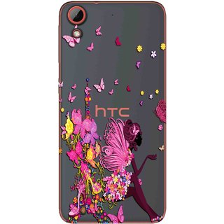 save off 73b60 dc860 Snooky Printed Butterfly Mobile Back Cover of HTC Desire 628 - Multicolour