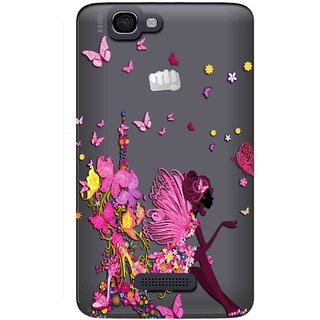 quality design 67b90 5025a Snooky Printed Butterfly Mobile Back Cover of Micromax Canvas 2 A120 -  Multicolour