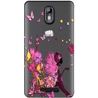 the best attitude 24573 23fae Snooky Printed Butterfly Mobile Back Cover of Micromax Canvas Evok E483 -  Multicolour
