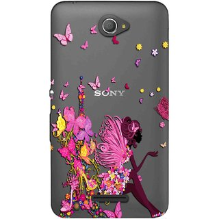 Buy Snooky Printed Butterfly Mobile Back Cover of Sony Xperia E4 - Multicolour Online - Get 69% Off