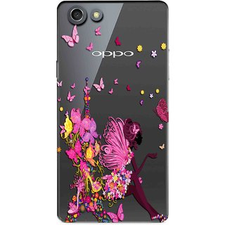 Snooky Printed Butterfly Mobile Back Cover of Oppo Neo 7 - Multicolour