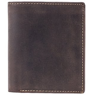 Visconti Hunter Bi-Fold Oil Brown Genuine Leather Wallet For Men With RFID Protection
