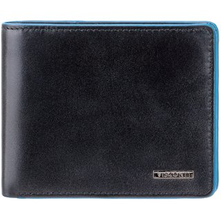 Visconti ALPS Bi-Fold Italian Black Genuine Leather Wallet For Men With RFID Protection