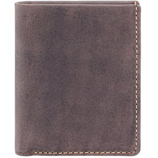 Visconti Slim Bi-Fold Oil Brown Genuine Leather Wallet For Men With RFID Protection