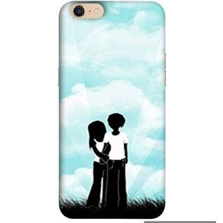 FUSON Designer Back Case Cover For Oppo A39 (Boyfriend Girlfriend Together Always Evening Life)