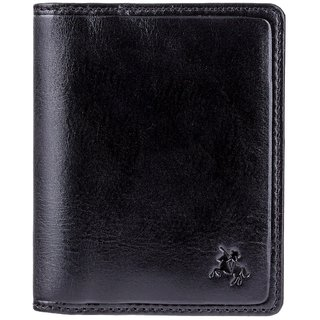 Visconti Tuscany Bi-Fold Black Genuine Leather Wallet For Men With RFID Protection