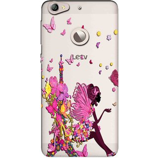 Snooky Printed Butterfly Mobile Back Cover of Letv Le 1S - Multicolour