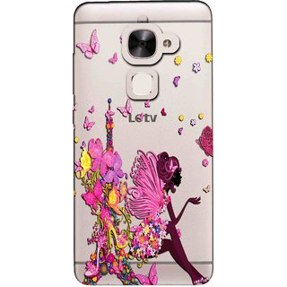 Snooky Printed Butterfly Mobile Back Cover of Letv Le 2 - Multicolour