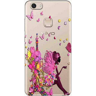 reputable site e0d09 106aa Snooky Printed Butterfly Mobile Back Cover of Vivo V7 Plus - Multicolour
