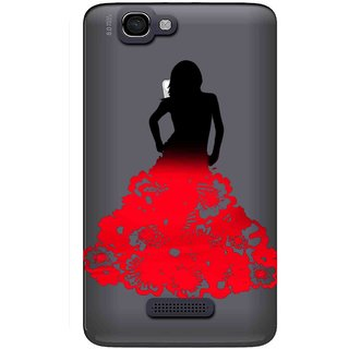 size 40 db768 d7c06 Snooky Printed Red Black Mobile Back Cover of Micromax Canvas 2 A120 -  Multicolour