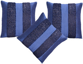 HOME ROYAL Set of 3 Polyester Cushion Covers 40X40 cm (16X16)