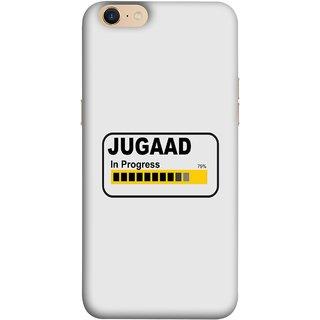 FUSON Designer Back Case Cover For Oppo A39 (Words Percentage Bar Yellow Black Slider)