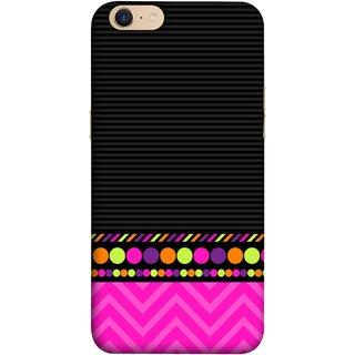 FUSON Designer Back Case Cover For Oppo A39 (White Pack Craft Paper Dots Black Background)