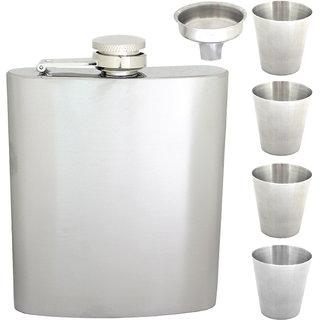7oz 210ml Stainless Steel Pocket Hip Flask Bottle Liquor Drink Ware -81