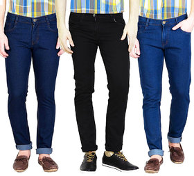 Masterly weft trendy Multi color Pack Of 3 jeans for men