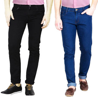 Masterly weft trendy Multi color Pack Of 2 jeans for men