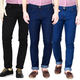 Pack of 3 Masterly Weft Multicolor Mid Rise Jeans For Men
