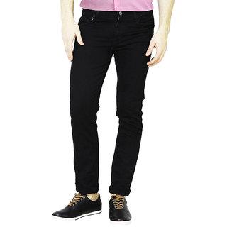 Masterly Weft Men's Slim Fit Black Jeans