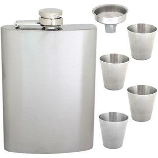 270ml 9oz Pocket Hip Flask Stainless Steel Bottle Liquor Drink Ware -83