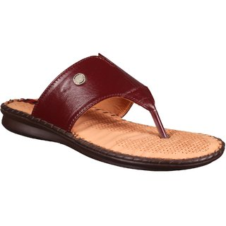 879e763858fd7e 1 WALK COMFORTABLE DR SOLE WOMEN-FLATS SANDALS FANCY WEAR PARTY WEAR ORIGINAL CASUAL  FOOTWEAR-P850A-Maroon