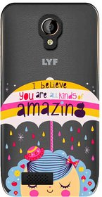 Snooky Printed Amazing Mobile Back Cover of LYF Flame 6 - Multicolour