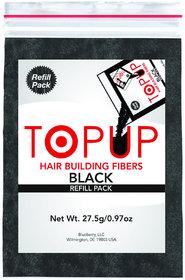 Topup Hair Building Fiber Refill bag Black-27.5gm For Hair Damage and Hair Loss