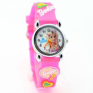 Pink color silicon Strap Girl's Watch