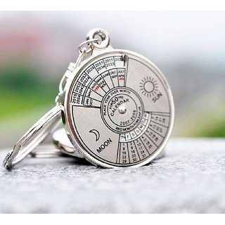 50 years perpetual calendar Keyring/ round Key ring/ Key Chain (Set of 1)